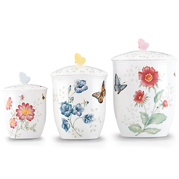 $200.00 Butterfly Meadow Cannister Set