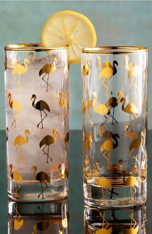$108.00 Flamingo Highball s/4