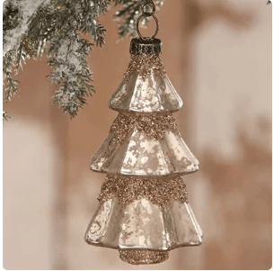 $10.00 Med Eleg. Mercury Glass Ornament
