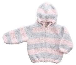 $46.00 Pink and Grey Chenille Jacket w/ monogram