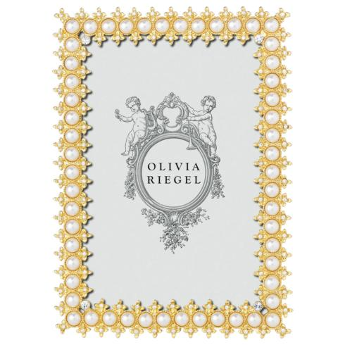 """$75.00 Gold Crystal & Pearl 4"""" x 6"""" Frame"""