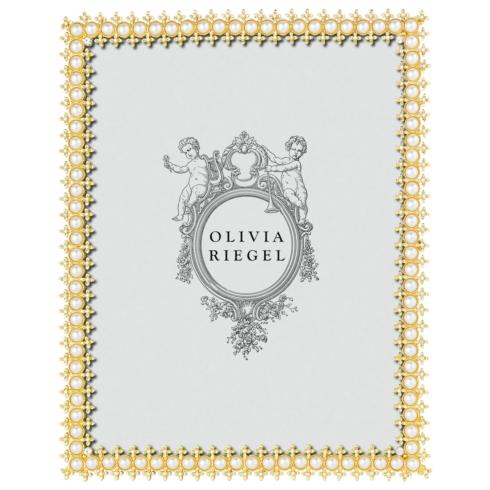 """$160.00 Gold Crystal & Pearl 8"""" x 10"""" Frame"""
