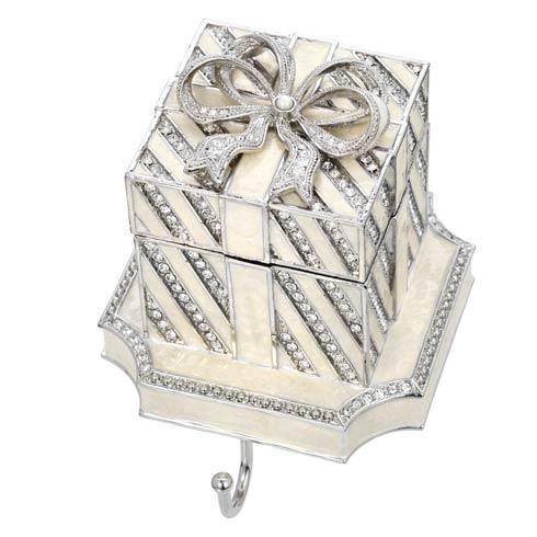 $205.00 White Gift Box Stocking Holder