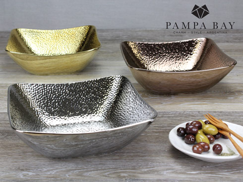$37.50 Square Bowl - Gold Finish