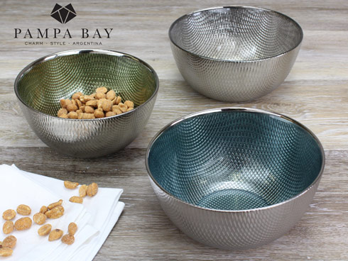 $16.25 Snack Glass Bowl - Blue