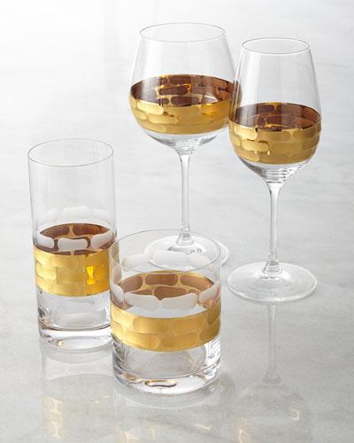 $50.00 Truro 14K gold trimmed champagne glass