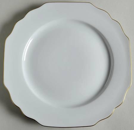 $67.50 Pickard Gold Georgian Monogrammed Dinner Plate