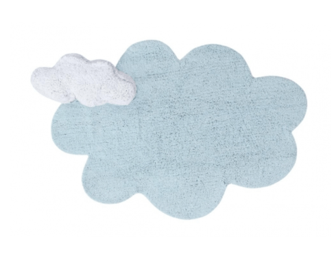 $215.00 Lorena Canals Washable Rug Puffy Dream Blue