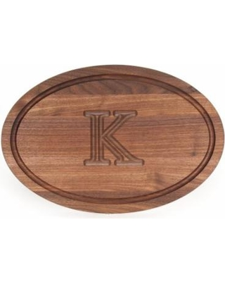 $278.00 15 x 24 Oval Walnut monogrammed board without handles