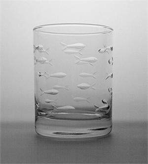 $9.95 Double Old Fashion Fish Glass
