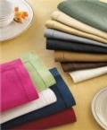 $58.00 Cobalt hemstitched napkins set/4