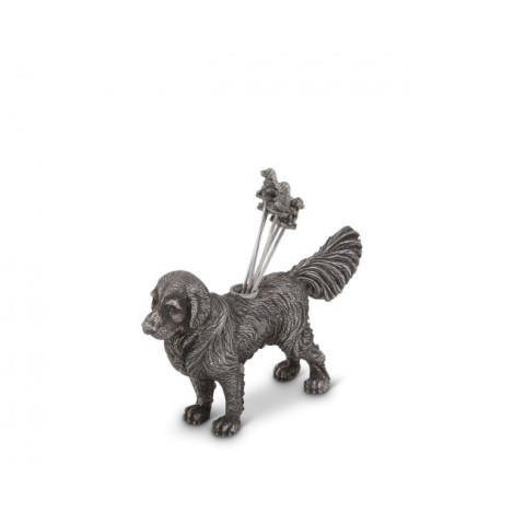 $88.00 Vagabond House Pewter Retriever Cheese Picks