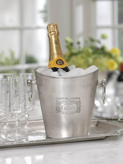 $82.00 Cafe Brasserie Du Grand Pewter Wine Cooler