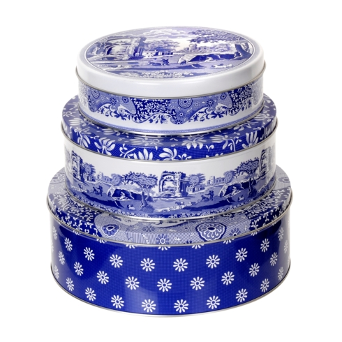 $40.00 Blue Italian Cake Nesting Tins