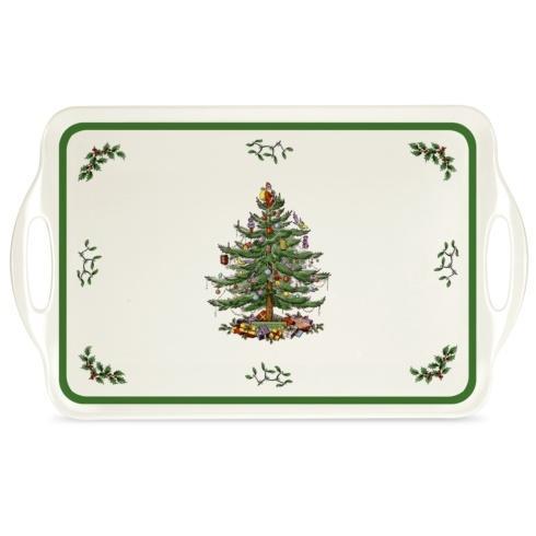 $20.00 Christmas Tree Large Melamine Handled Tray