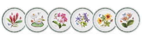 $186.00 Set of 6 Assorted Motif Dinner Plates