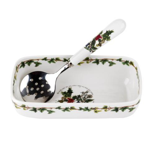 $30.00 Cranberry Dish with Slotted Spoon