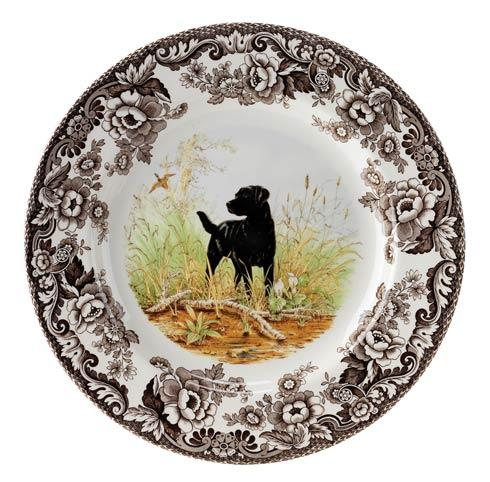$37.00 Black Labrador Retriever Dinner Plate