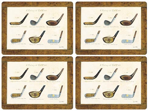 $40.00 A History of Golf Placemats - Set of 4