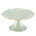$64.00 French Perle Ice Blue Medium pedestal cake plate