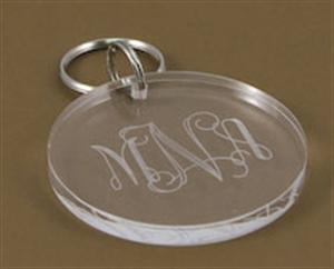 $10.50 Monogrammed Acrylic Key Chain