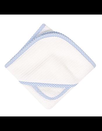 $34.00 Blue Gingham Pique Boxed Towel Set
