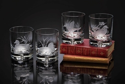 $179.00 American Ducks Old Fashion Glasses (Set of 4)