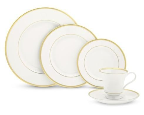 $80.00 Gold Monogrammed Dinner Plate