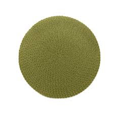 $22.00 Avo Round Placemat-Green