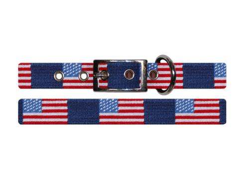 $75.00 American Flag Dog Collar