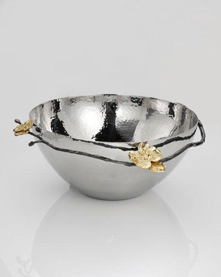 $100.00 Michael Aram Gold Orchid Nut Bowl