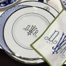 $267.00 Pickard Monogram Large Oval Platter