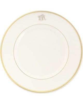 $54.00 Signature Ivory with Gold Monogrammed Salad Plate