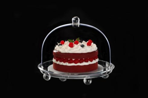 $65.00 9.5 Inch Tall Round Dome with Footed Tray