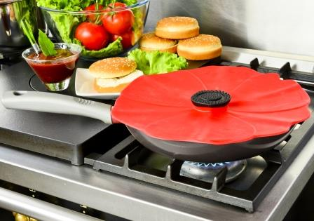 """$12.50 Silicone Lid - Large Poppy 9"""""""