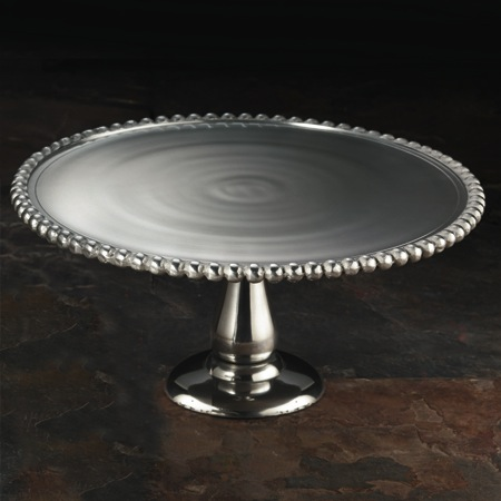 $45.00 Beaded Cake Stand 11""