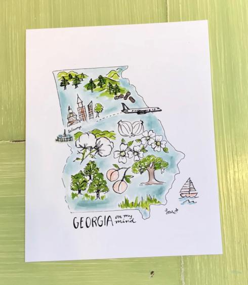 $24.50 Art Print - Georgia on my Mind