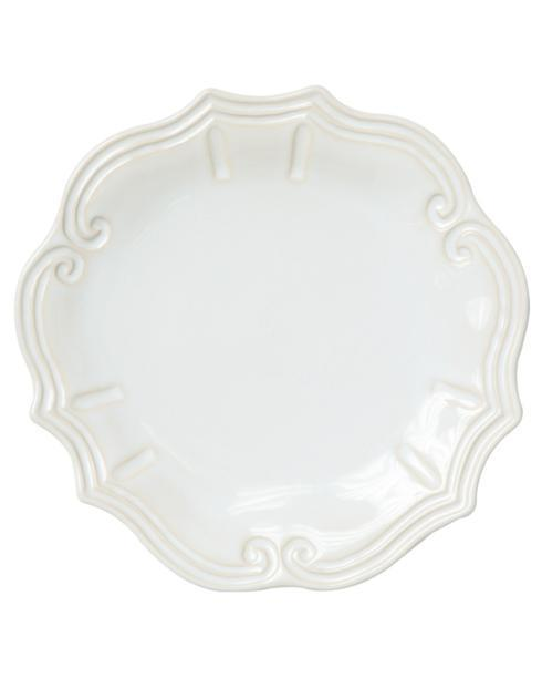 $50.00 Vietri Incanto Stone White Baroque Dinner Plate