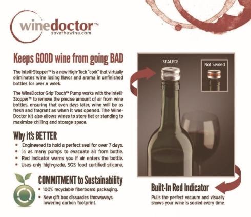 $16.00 Harold Import Company Inc Wine Doctor Stopper
