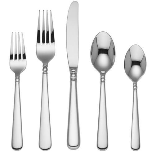 $50.00 Pearl Platinum 5-piece Flatware Place Setting