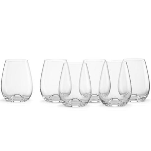 $45.00 Tuscany Classics 6-Piece Stemless Wine Glass Set