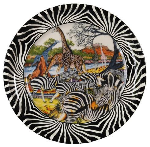 """$54.00 Charger Plate 11.5"""" Zebra"""