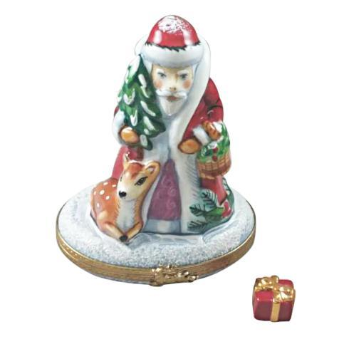 $299.00 Santa with Reindeer and Gift