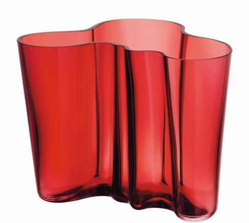 "$195.00 Vase 6.25"" Cranberry"