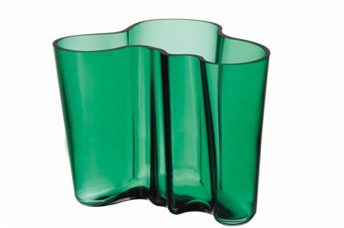 "$125.00 Vase 4.75""  Emerald"