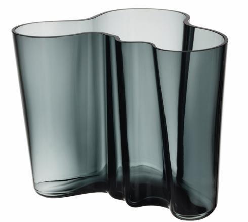 """$195.00 Vase 6.25"""" Dark Grey"""
