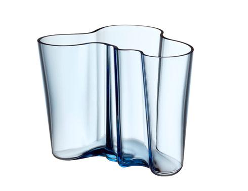 "$195.00 Vase 6.25"" Aqua"