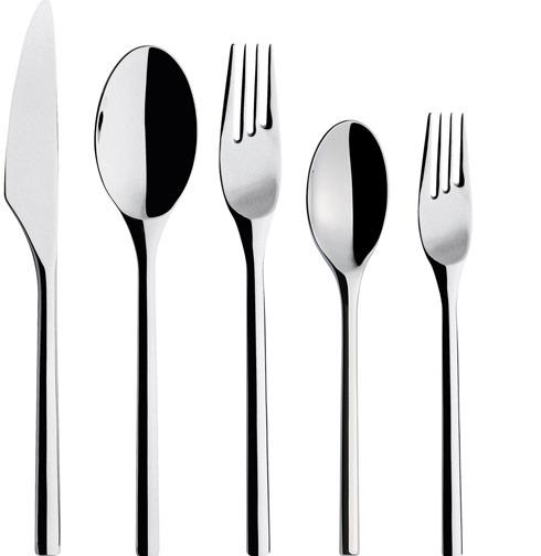 $85.00 5 Pc Stainless Steel Place Setting