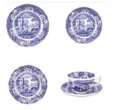 $75.00 Blue Italian 5 Piece Place Setting