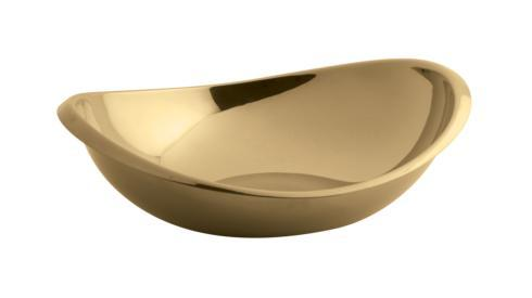 $50.00 Oval Bowl 6 in PVD Cognac